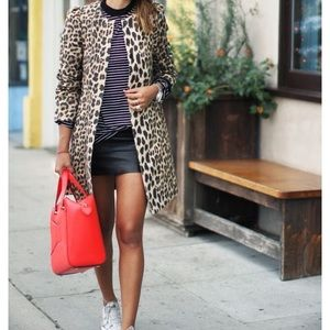 Jackets & Blazers - Leopard Print Trench Coat